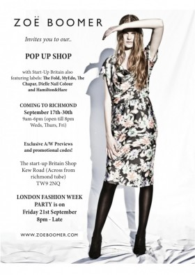 BIG NEWS!! LONDON FASHION WEEK COMES TO RICHMOND WITH OUR NEXT POP UP SHOP! cover image