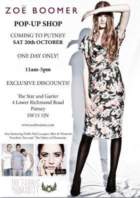 ZOE BOOMER POP-UP SHOP COMING TO PUTNEY THIS SAT 20TH OCTOBER! cover image