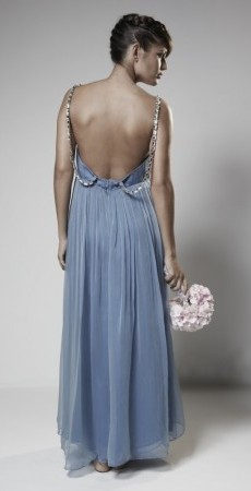 18. Blue Lagoon with Swarovski crystal straps, Back.
