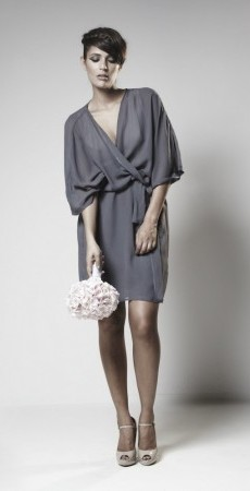 24. Satchii silk chiffon wrap dress