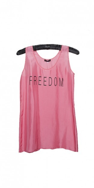 FREEDOM Top - Hot pink Silk