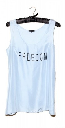 FREEDOM Top - pale blue silk