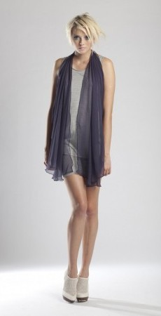 St.Clements scarf Top - Purple Silk chiffon 3 tops in 1!