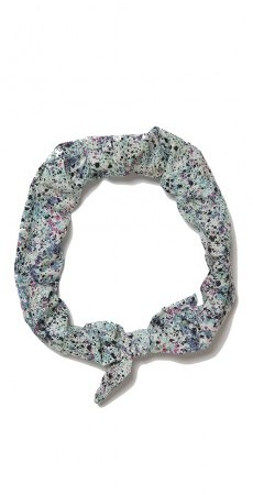 Liberty Print elastic headband - green multi-colour print