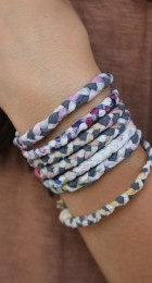 A selection of plaited bracelets