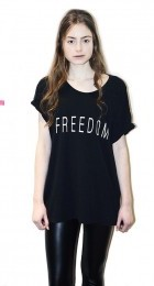 Black unisex FreedomT