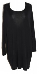 The Jumper Dress Black Jersey